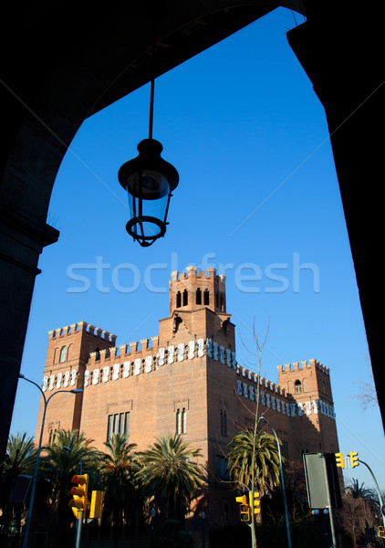 Barcelona három sárkány kastély égbolt város Stock fotó © lunamarina