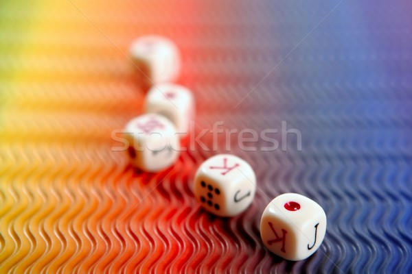 Poker dices over colored background Stock photo © lunamarina