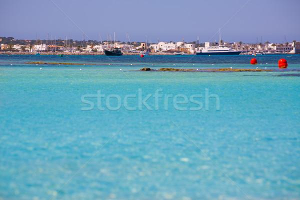 La Savina Sabina village and marina in Formentera Stock photo © lunamarina
