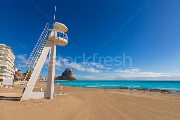 Strand water huis zee zomer oceaan Stockfoto © lunamarina