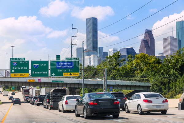 Houston trafic 10 interstate Texas USA Photo stock © lunamarina