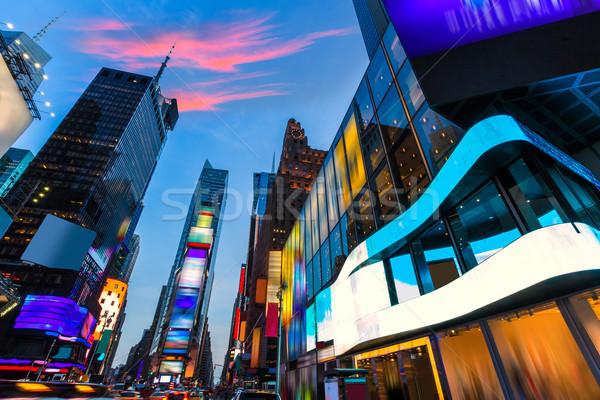 タイムズ·スクエア マンハッタン ニューヨーク 広告 ビジネス ストックフォト © lunamarina