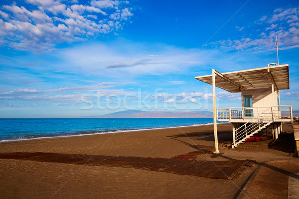 Almeria Cabo de Gata San Miguel beach lifeguard Stock photo © lunamarina