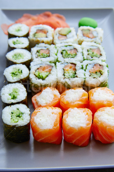 Sushi Maki and Niguiri California roll Stock photo © lunamarina