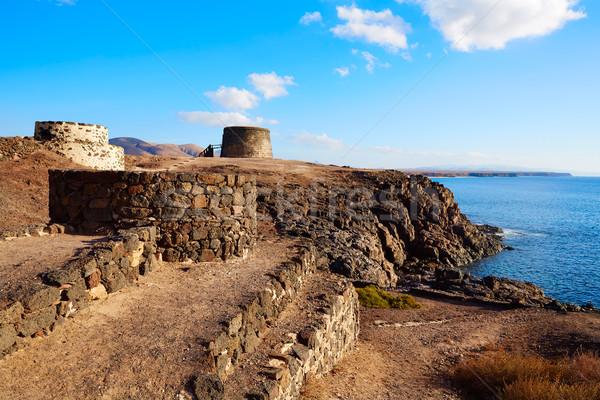 башни канарейка острове замок Канарские острова Испания Сток-фото © lunamarina