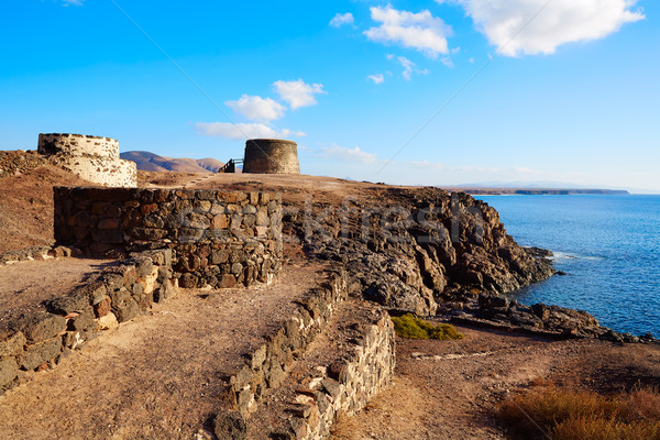 El Cotillo Toston tower fuerteventura Canary island Stock photo © lunamarina