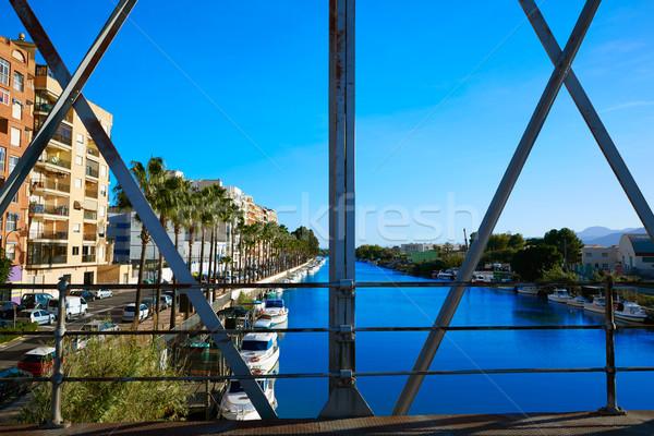 Ponte rio Valência Espanha mar oceano Foto stock © lunamarina