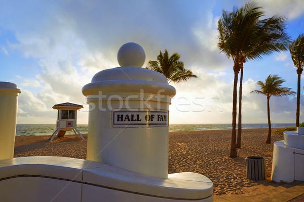 Fort Lauderdale Strand sunrise Florida Morgen USA Stock foto © lunamarina