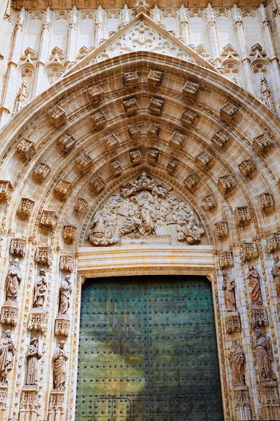 Kathedraal Spanje stad reizen steen Stockfoto © lunamarina