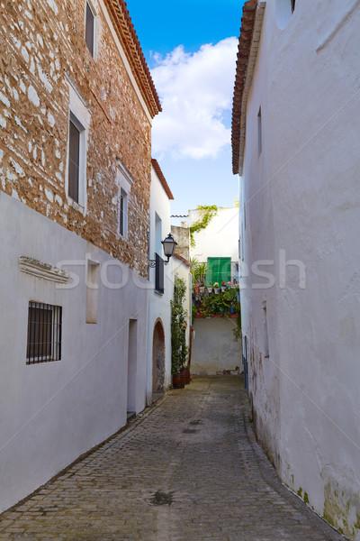 Zafra Callejita del Clavel street in Extremadura Stock photo © lunamarina