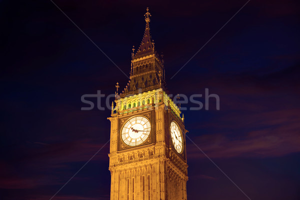 Stock photo: Big Ben Clock Tower in London England