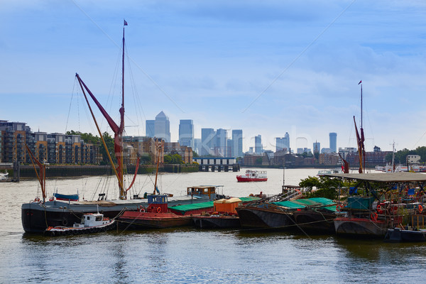 London Thames river boats England Stock photo © lunamarina