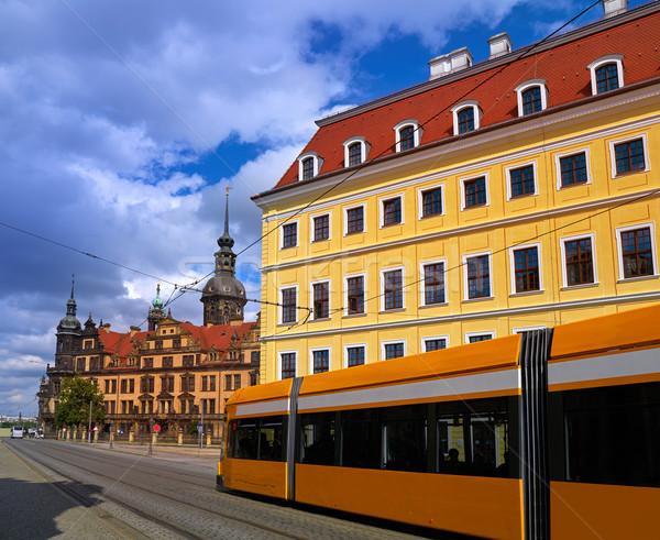 ドレスデン ドイツ 通り 市 青 城 ストックフォト © lunamarina
