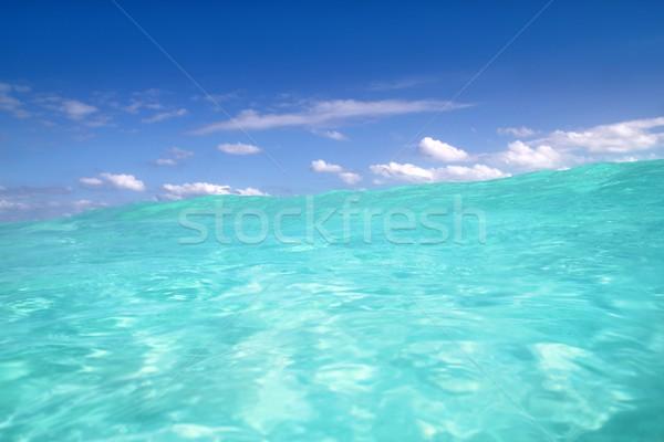 blue caribbean sea water wave horizon Stock photo © lunamarina