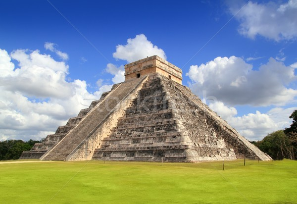 Stock photo: Ancient Chichen Itza Mayan pyramid temple Mexico