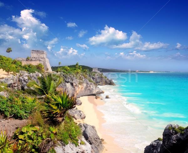 Stockfoto: Oude · ruines · caribbean · turkoois · zee · direct