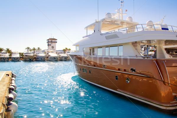 Calvia Puerto Portals Nous luxury yachts in Majorca Stock photo © lunamarina
