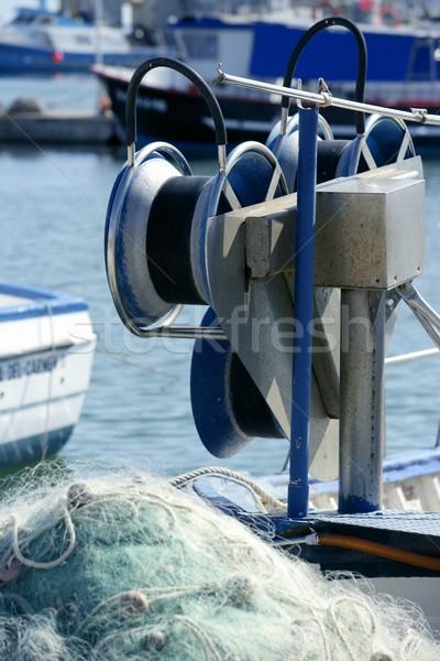 Fishing boat equipment detail: net, arts macro Stock photo © lunamarina