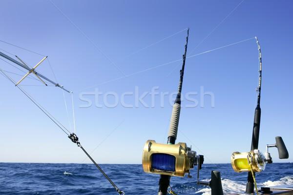 Foto d'archivio: Grande · gioco · barca · pesca · profondità · mare