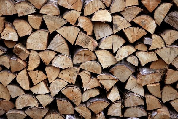 Kesmek yakacak odun model doğa ev Stok fotoğraf © lunamarina