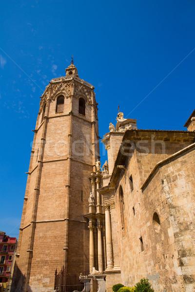 Valencia katedrális homlokzat LA út épület Stock fotó © lunamarina