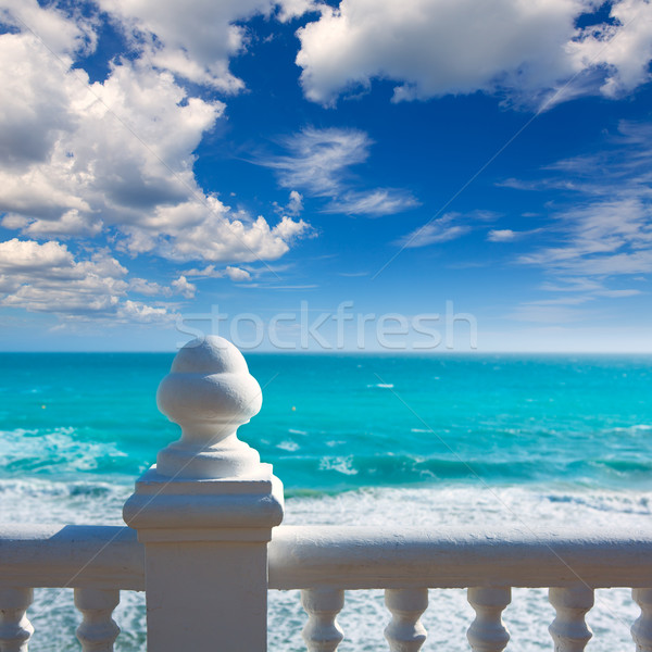 Stock photo: Benidorm balcon del Mediterraneo sea from white balustrade