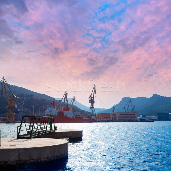 Cartagena Murcia port marina in Spain Stock photo © lunamarina