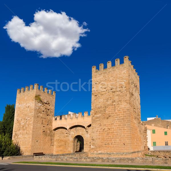 Alcudia Porta de Mallorca in Old town at Majorca Stock photo © lunamarina