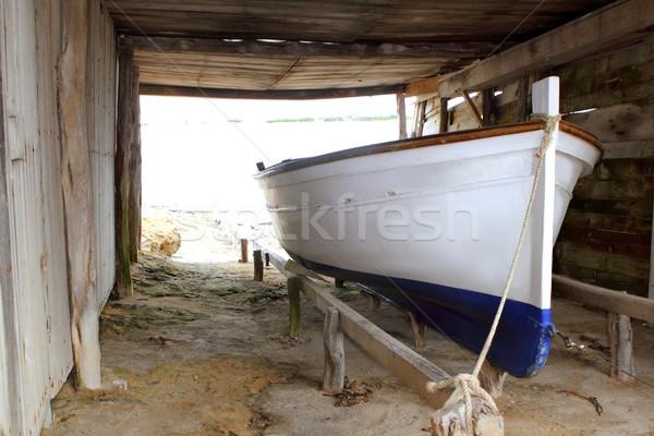 Barco tradicional playa mar fondo Foto stock © lunamarina