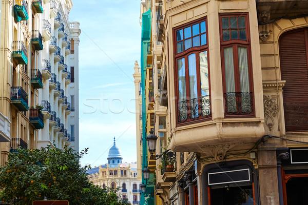 Valencia centrum vierkante Spanje kunst Europa Stockfoto © lunamarina