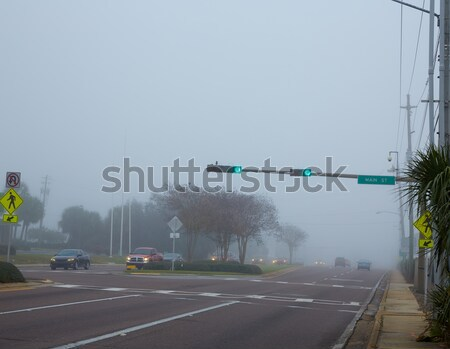 Foggy haze morning in Florida with traffic cars Stock photo © lunamarina