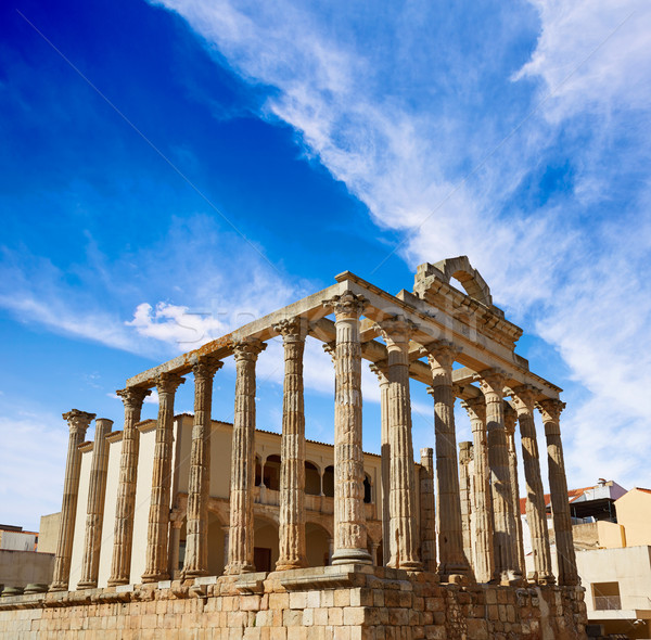 Merida Diana Temple in Badajoz Spain Stock photo © lunamarina