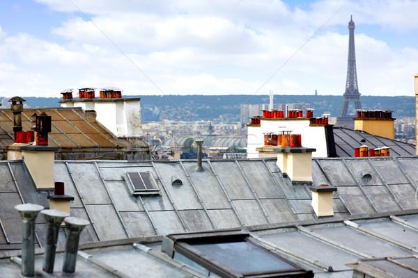 Paris skyline aerial from Montmartre Stock photo © lunamarina