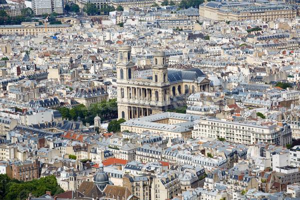 Paris aziz kilise Fransa mavi Stok fotoğraf © lunamarina