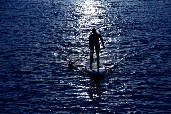 стоять вверх поиск девушки небе воды Сток-фото © lunamarina