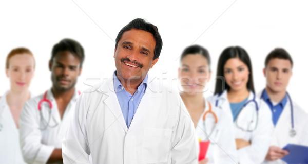 Indiai szakértelem orvos többnemzetiségű orvosok nővér Stock fotó © lunamarina