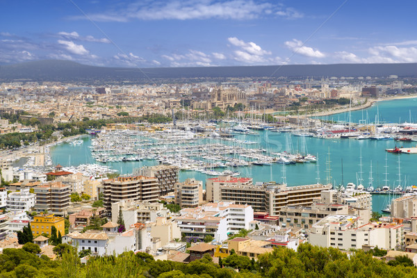 City of Palma de Mallorca in Majorca Balearic island Stock photo © lunamarina