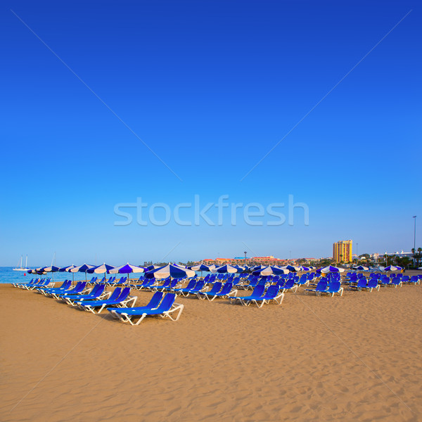 Strand tenerife zuiden kust natuur Stockfoto © lunamarina