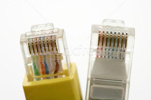 Elektronik bağlantı kablo ethernet ağ iş Stok fotoğraf © lunamarina