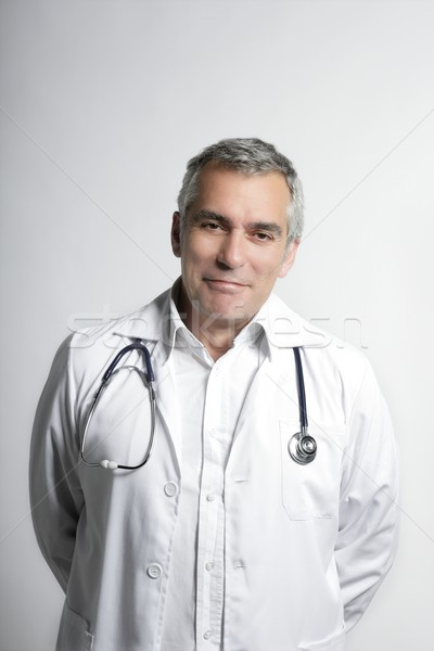 expertise doctos senior gray hair smiling portrait Stock photo © lunamarina