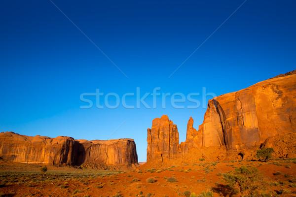 Monument Valley Rain God Mesa Utah Stock photo © lunamarina