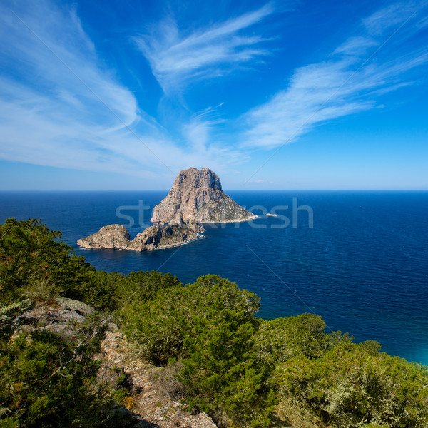 Ibiza Es Vedra and Vedranell from Torre des Savinar Stock photo © lunamarina