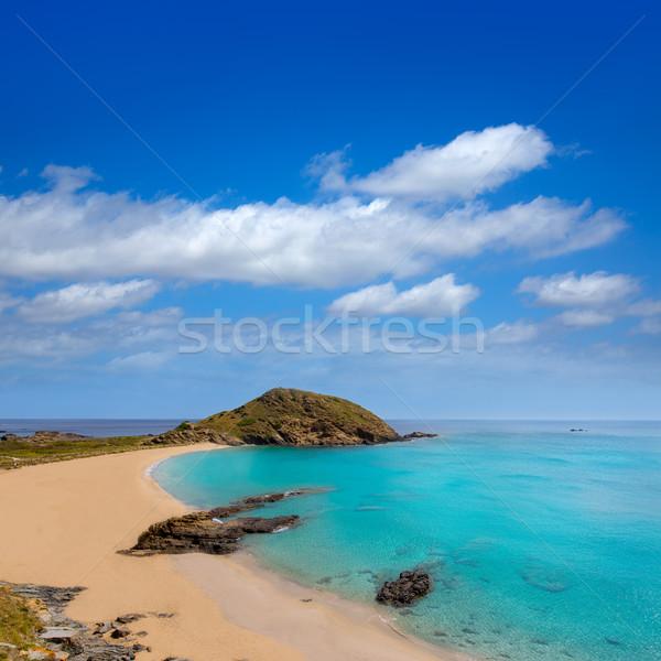 Stock photo: Menorca Cala Sa Mesquida Mao Mahon turquoise beach
