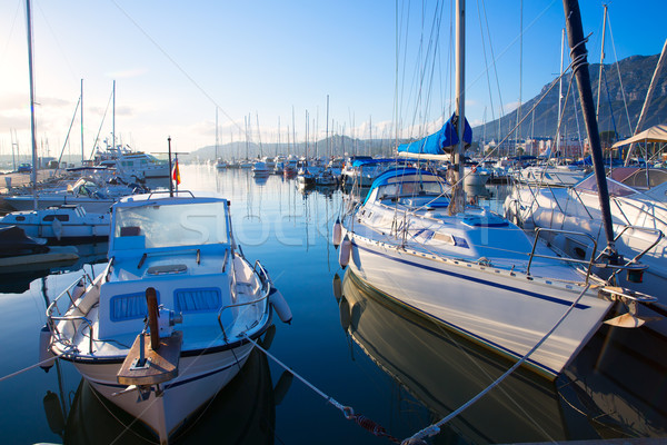 Jachthaven boten Valencia Spanje strand landschap Stockfoto © lunamarina