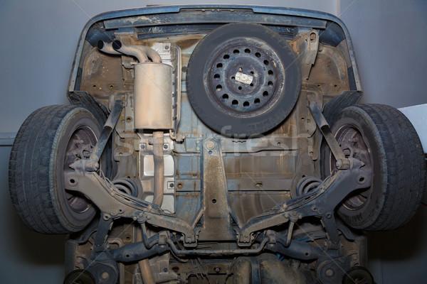 Auto wielen uitputten pijp gebruikt Stockfoto © lunamarina