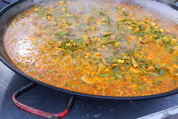 приготовления типичный Валенсия Испания рецепт риса Сток-фото © lunamarina