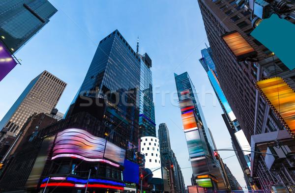 Times Square Manhattan New York alle business Stockfoto © lunamarina