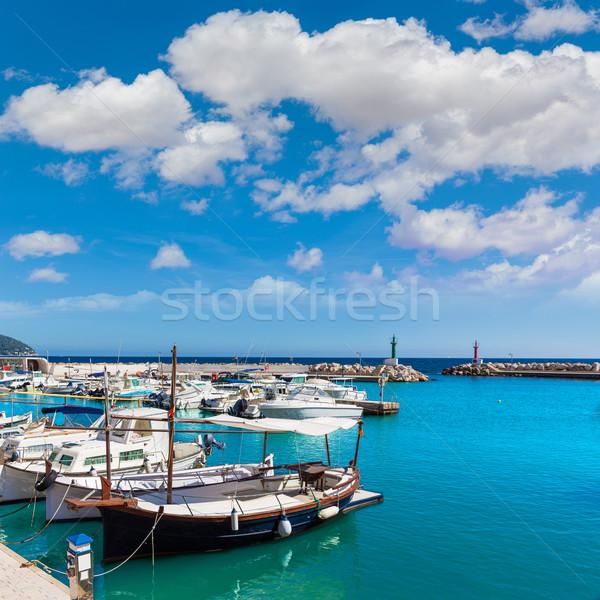 Marina fiú Mallorca kikötő szigetek Spanyolország Stock fotó © lunamarina