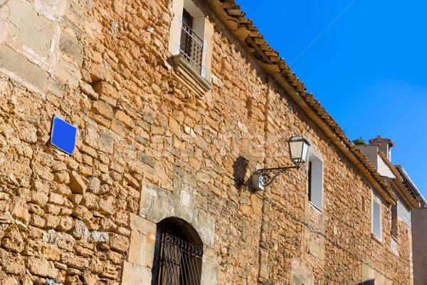 Dorp majorca eiland Spanje gebouw venster Stockfoto © lunamarina