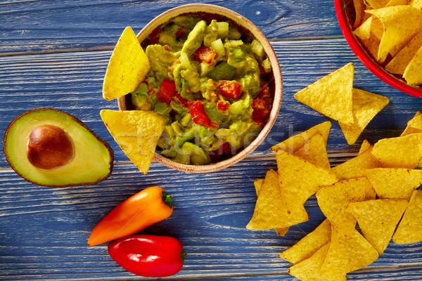 アボカド トマト ナチョス メキシコ料理 食品 レストラン ストックフォト © lunamarina